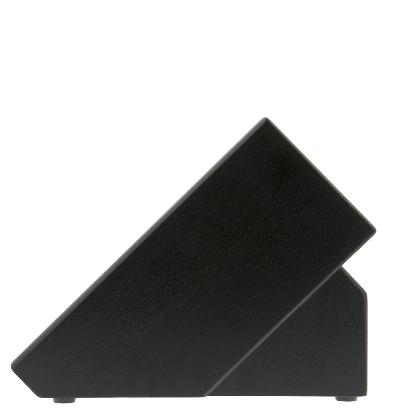 16, rubberwood, TWIN Black Knife block empty,,large 5