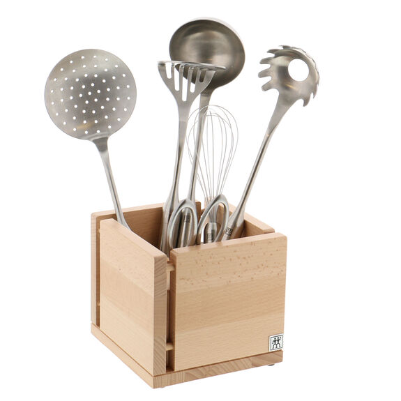 Kitchen Utensil Organizer - Natural Beechwood,,large 3