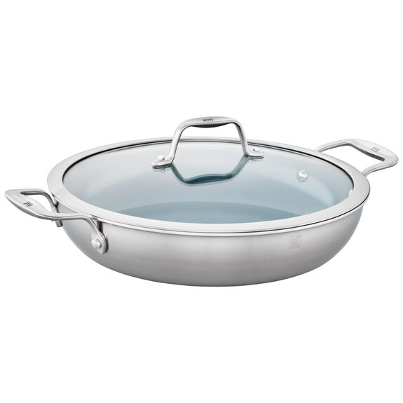 Ceramic Braiser with Glass Lid,,large