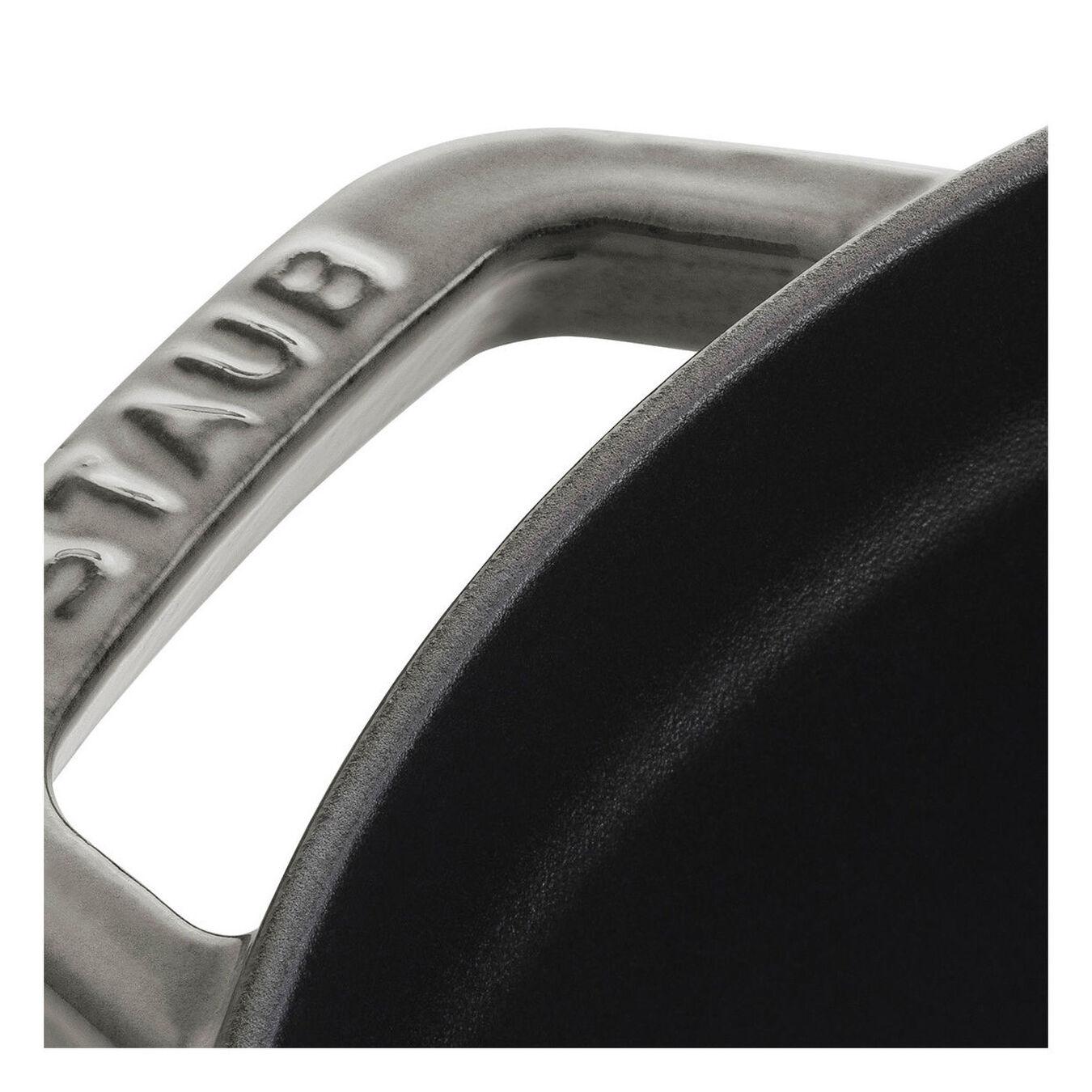 Cocotte en fonte 20 cm / 2,2 l, Rond, Gris graphite,,large 3
