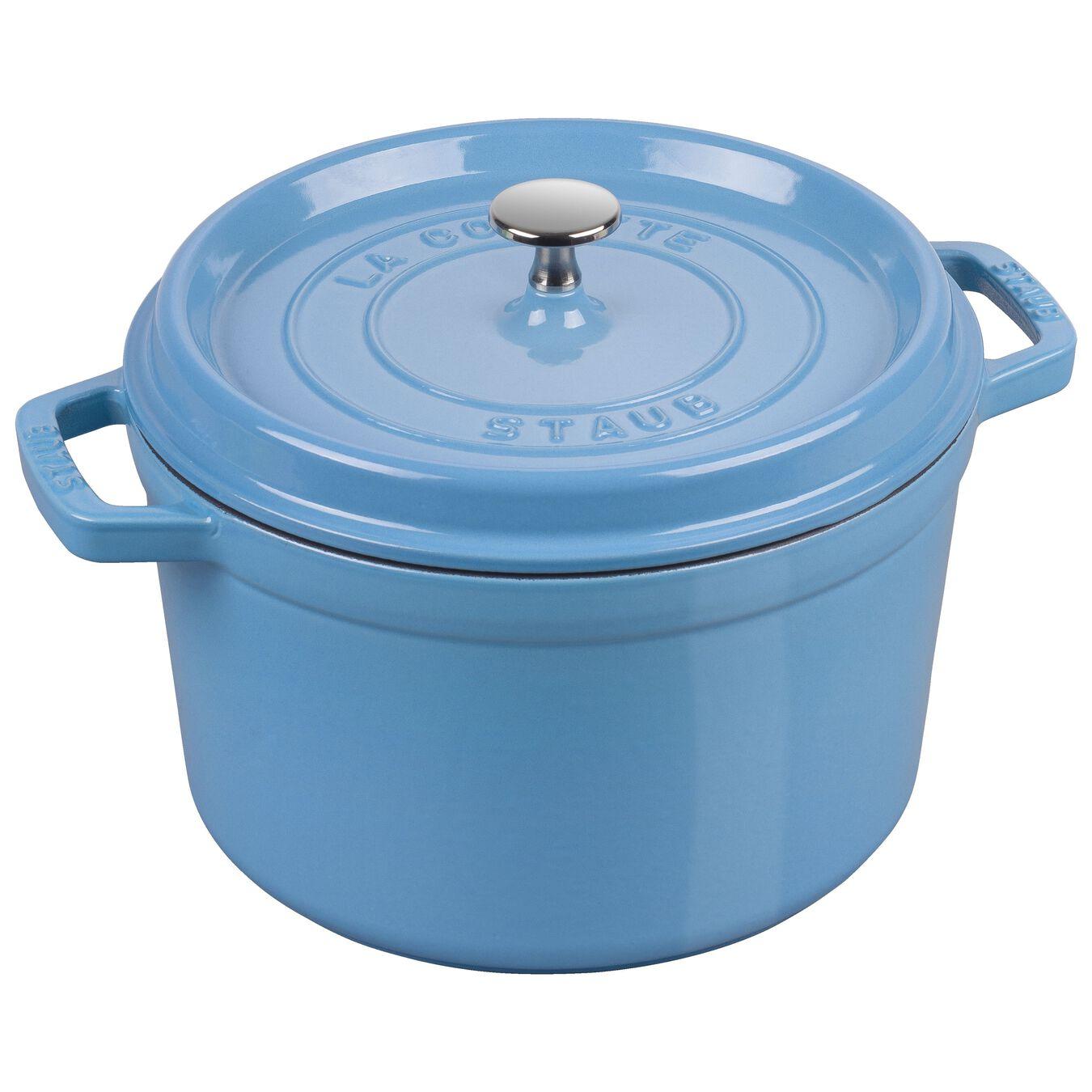 4,75 l Cast iron round Poêle à frire en fonte, Ice-Blue,,large 1