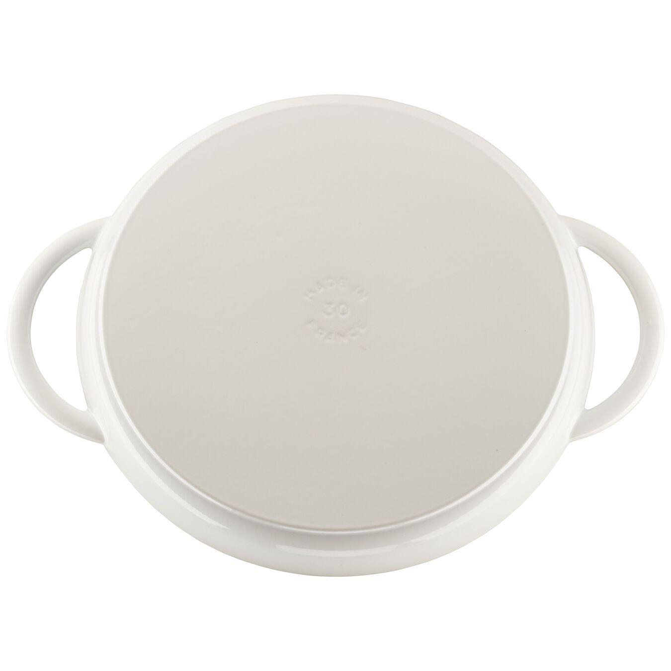 12-inch Round Steam Grill - White,,large 2
