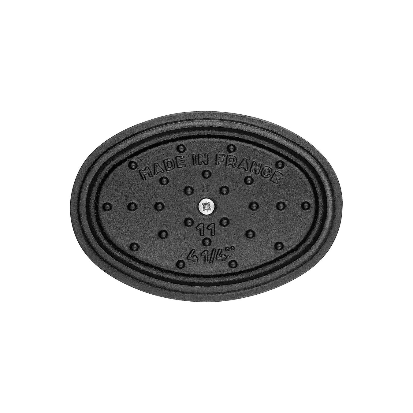 Mini Cocotte 11 cm, oval, Schwarz, Gusseisen,,large 2