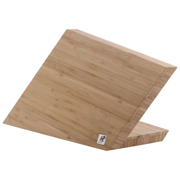 Messerblock, leer Bambus,,large