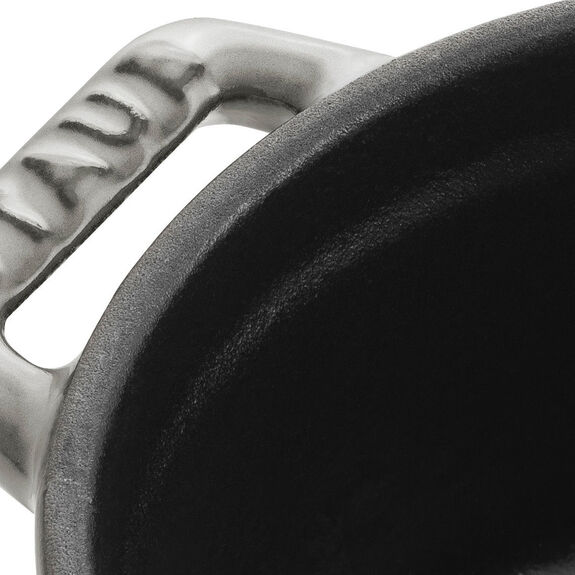 0.25-qt Mini Round Cocotte - Graphite Grey,,large 3