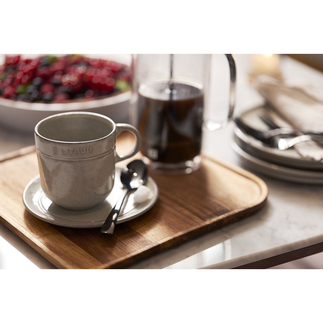 Ceramic round Mug, white truffle,,large 2