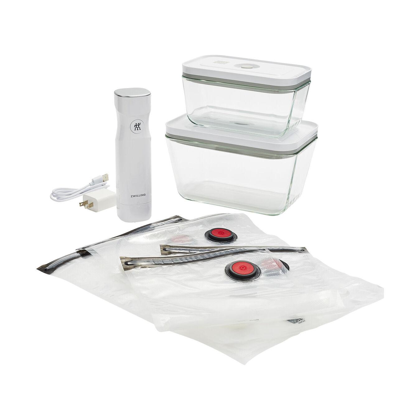 medium/large / 7-pc Vacuum starter set, Borosilicate glass ,,large 14