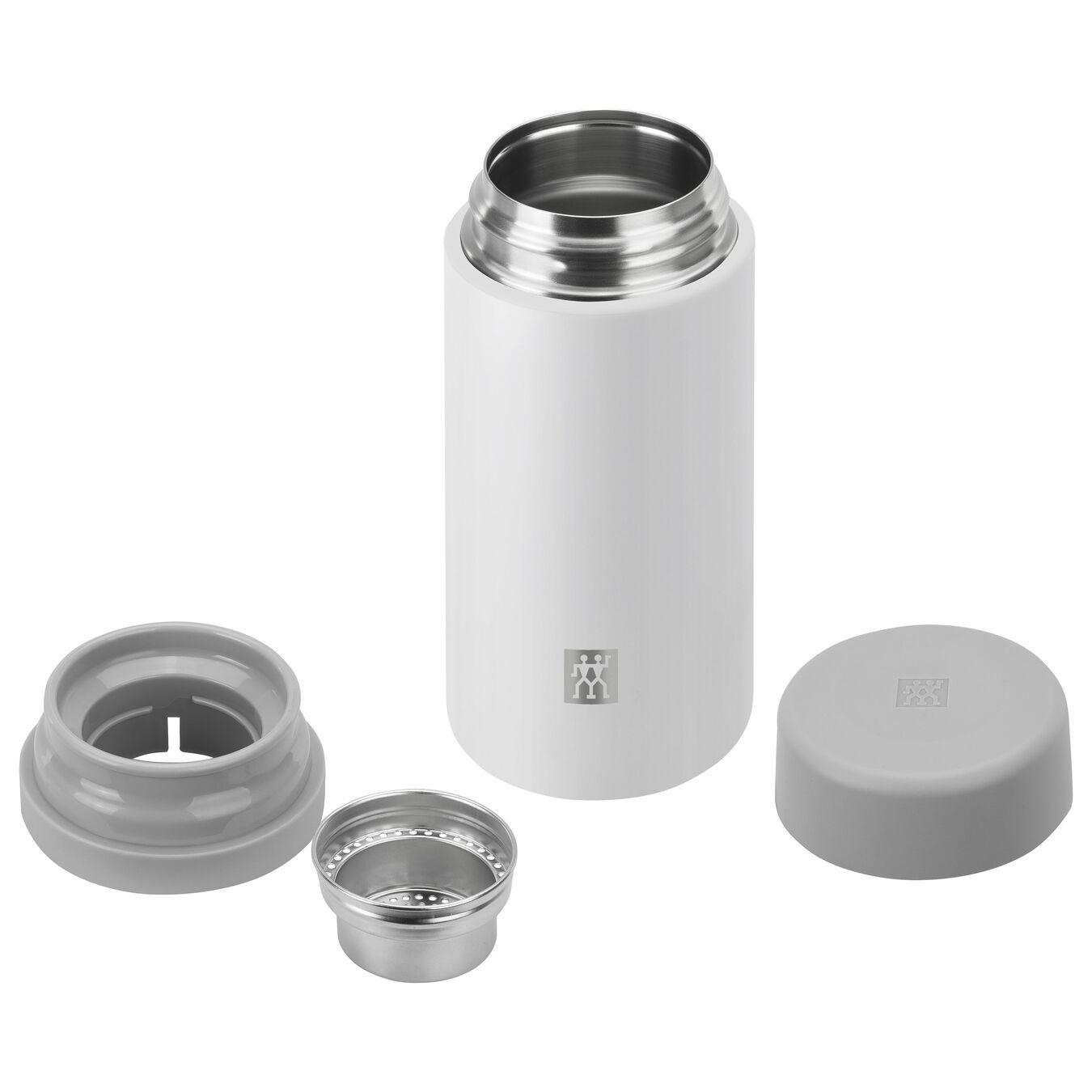 Thermos - 420 ml, acciaio inox, bianco,,large 3