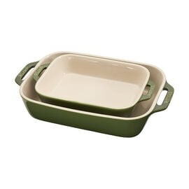 Staub Ceramics, 2-pc Rectangular Baking Dish Set - Basil