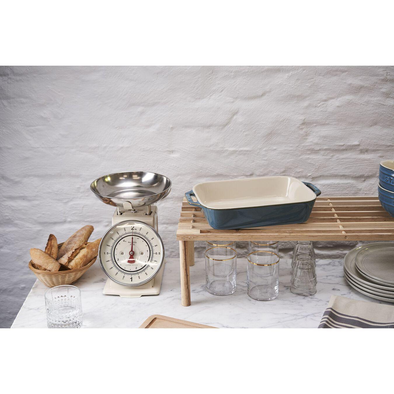 10.5-inch x 7.5-inch Rectangular Baking Dish - Rustic Turquoise,,large 5