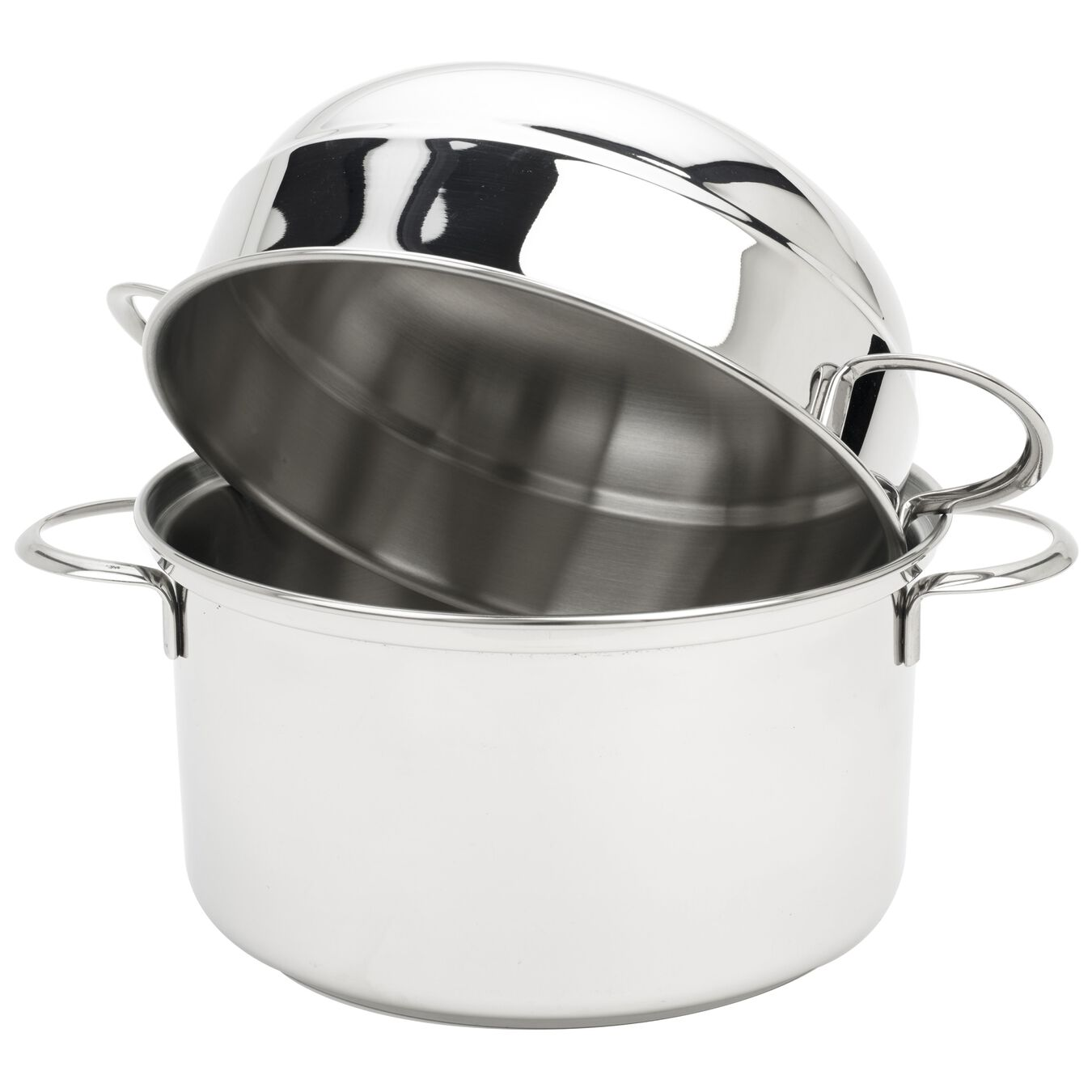 3 l 18/10 Stainless Steel round Moulière, Silver,,large 2