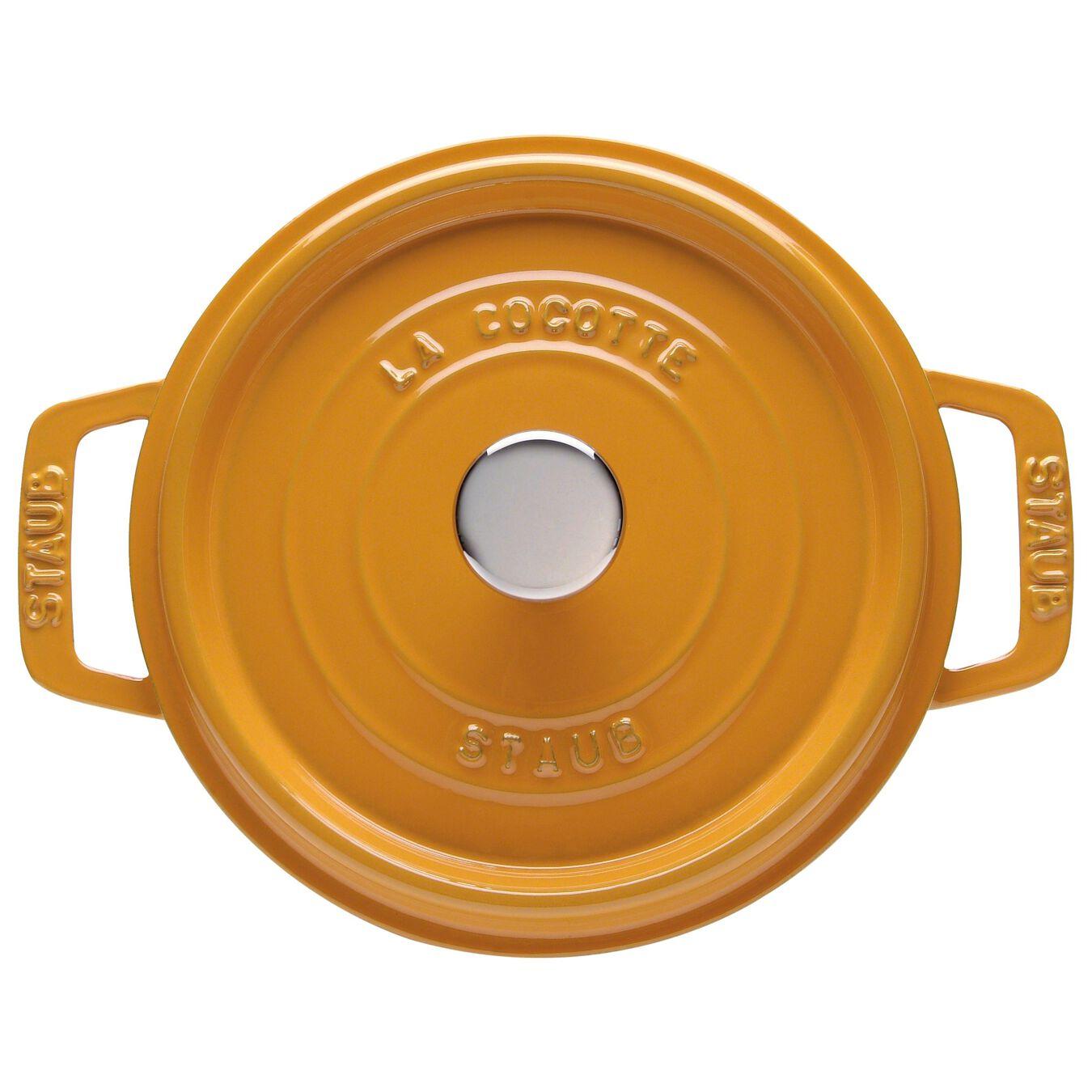 5,25 l Cast iron round Faitout, Mustard,,large 1