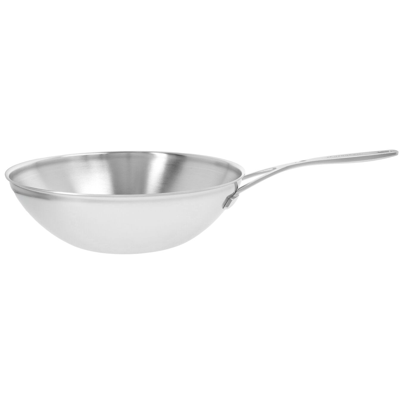 5 qt, 18/10 Stainless Steel, Flat Bottom Wok, silver,,large 1