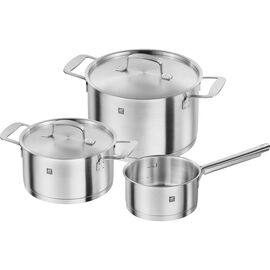ZWILLING Base, Ensemble de casseroles 3-pcs, Inox 18/10