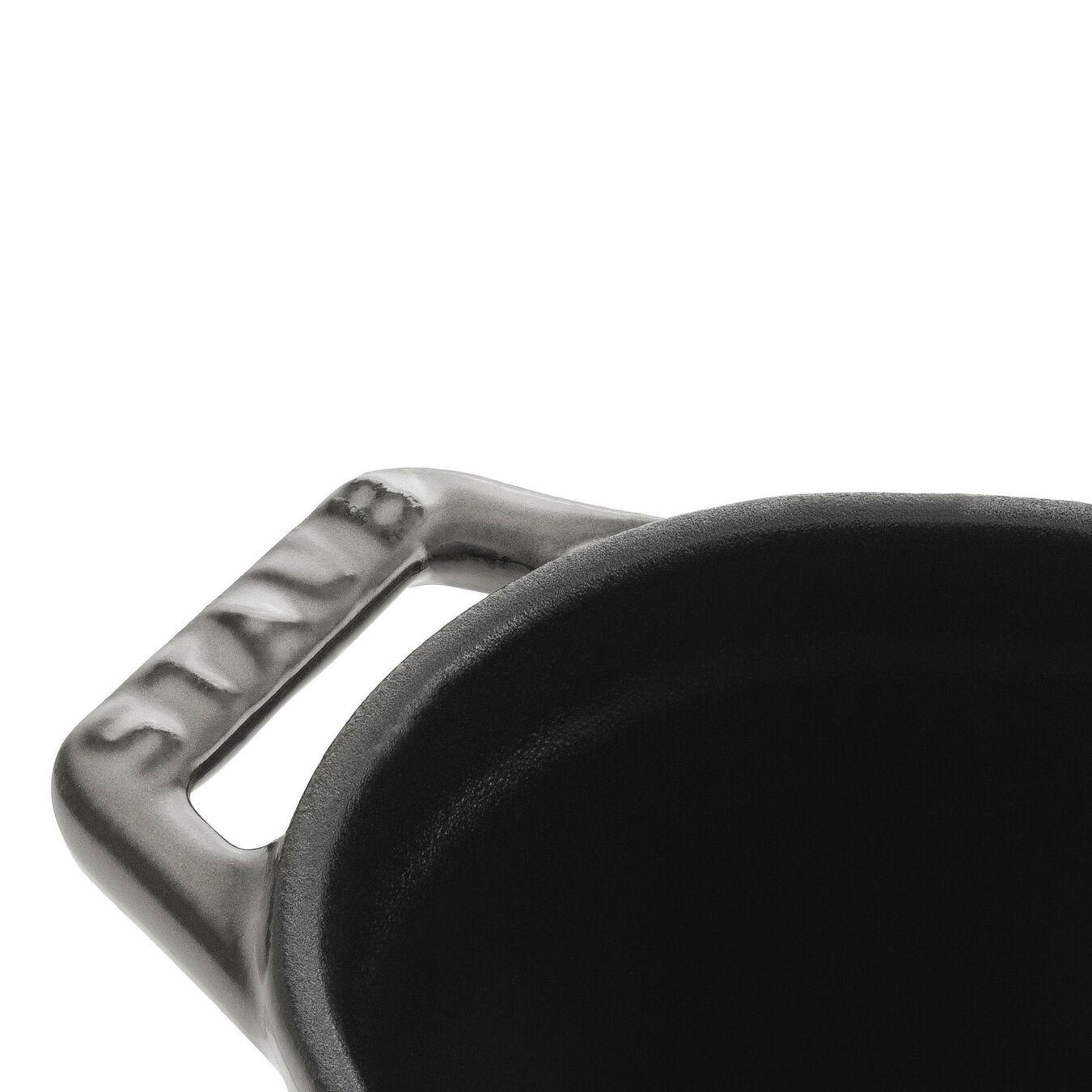 Mini Cocotte 11 cm, Ovale, Gris graphite, Fonte,,large 3