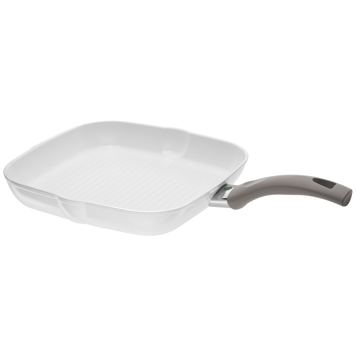 Grillpfanne 28 cm, Aluminium, Weiß,,large 1