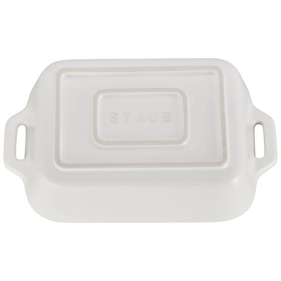 7.5-inch x 6-inch Rectangular Baking Dish - Matte White,,large 3