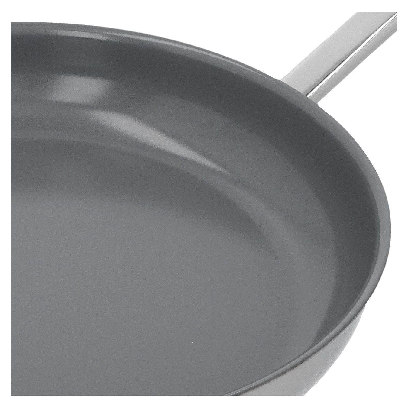 Stekpanna 32 cm, 18/10 Rostfritt stål, Silver,,large 5