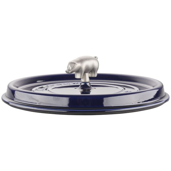 6-qt Cochon Shallow Wide Round Cocotte - Dark Blue,,large 6