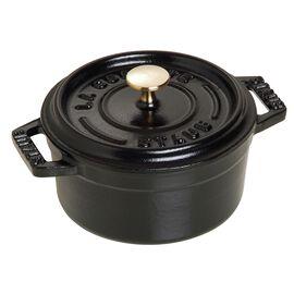 Staub Cast iron, 1-cm-/-4-inch round Mini Cocotte, Black