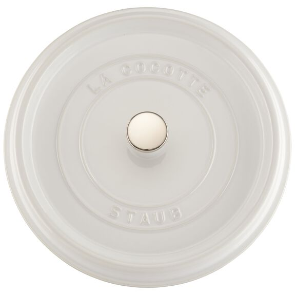 5.5-qt round Cocotte, White,,large 4