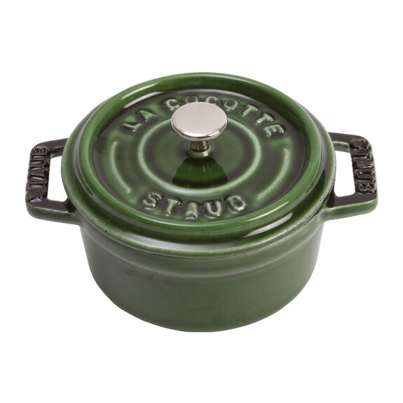 4-inch round Mini Cocotte, Basil,,large 4