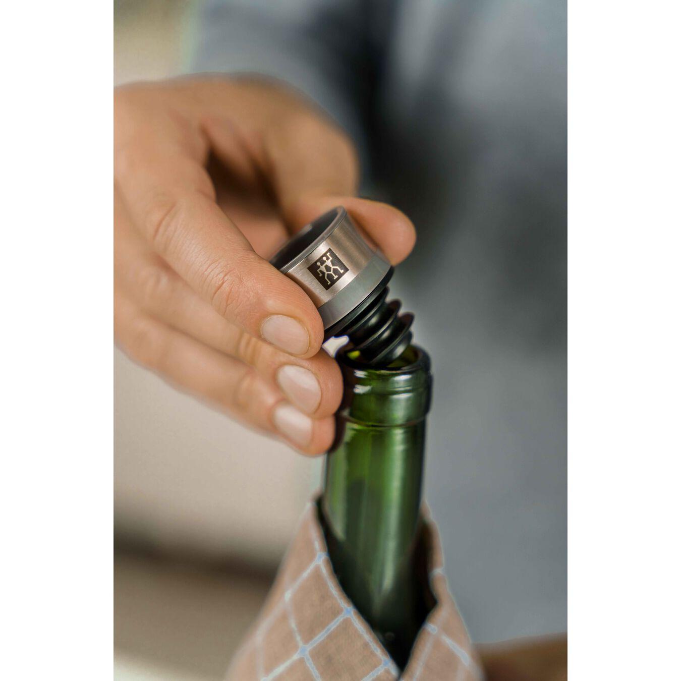 Vakuum Weinverschluss Set, 2-tlg, Grau,,large 6