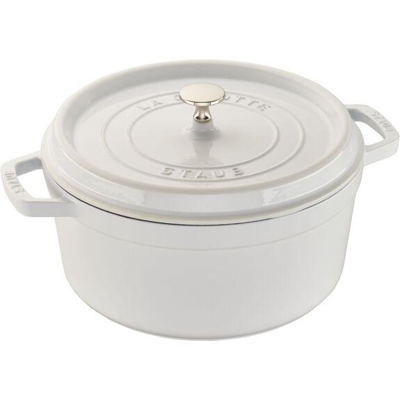 5.5-qt Round Cocotte - White,,large