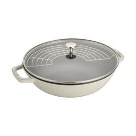 Staub Cast Iron - Woks/ Perfect Pans, 4.75 qt, Perfect Pan, white truffle