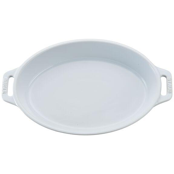 Ceramic Oval Baking Dish, White,,large 2