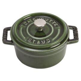 Staub La Cocotte, Mini Cocotte 10 cm, Rund, Basilikum-Grøn, Støbejern