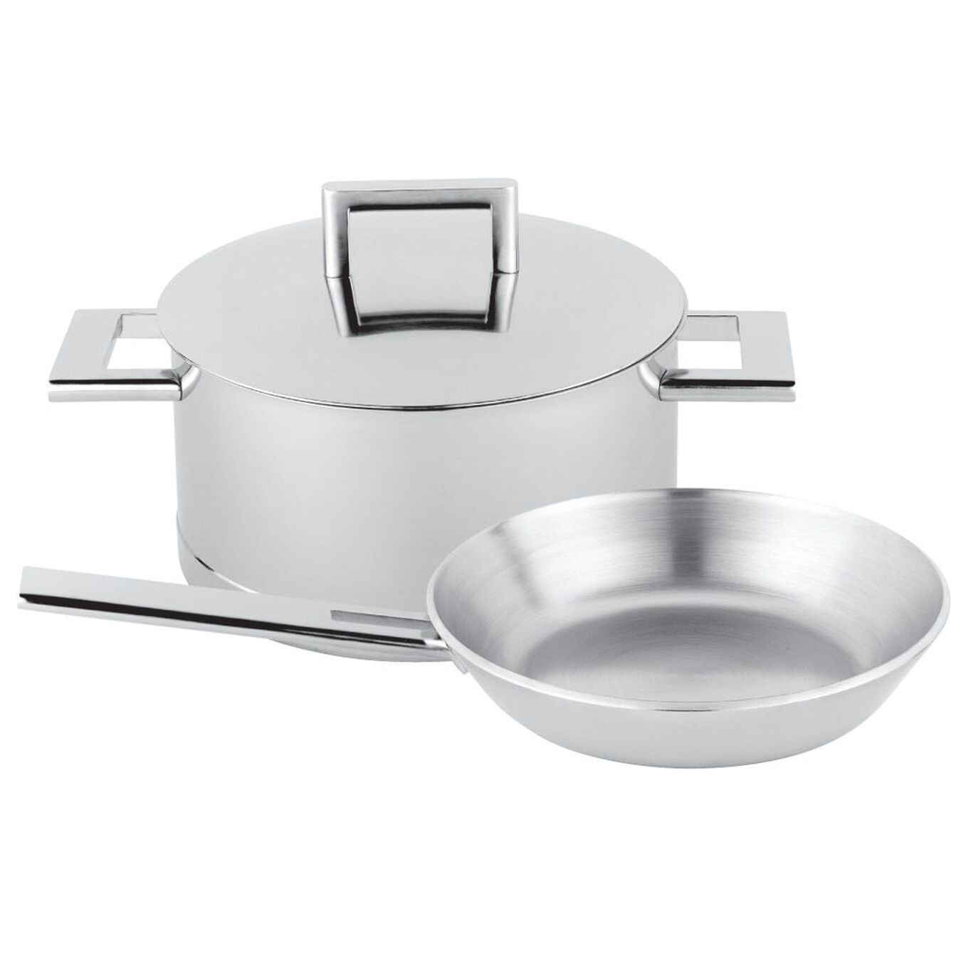 3-pc, Stainless steel, Pots and pans set,,large 1