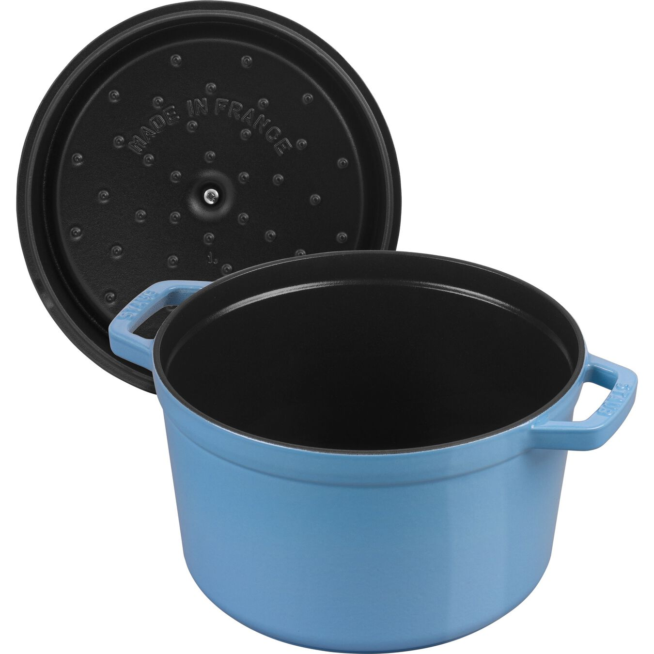 5 qt, round, Cocotte, ice-blue - Visual Imperfections,,large 5