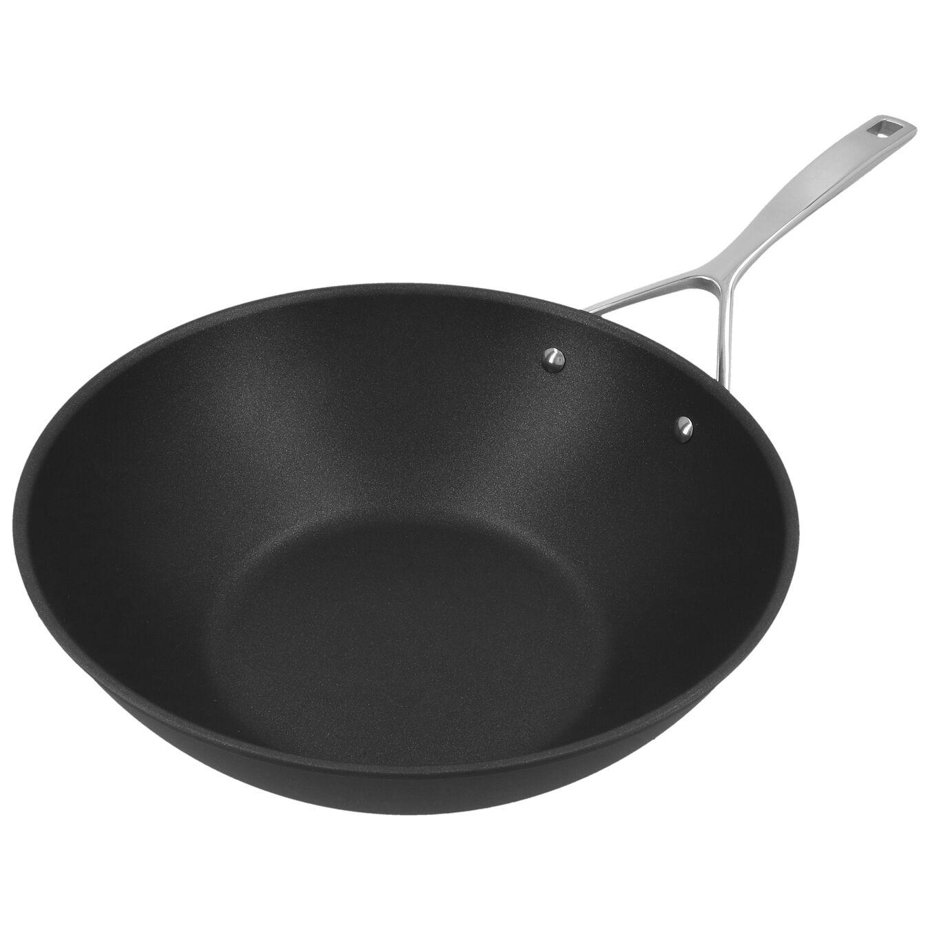 101.5-oz, aluminium, Wok, silver-black,,large 2