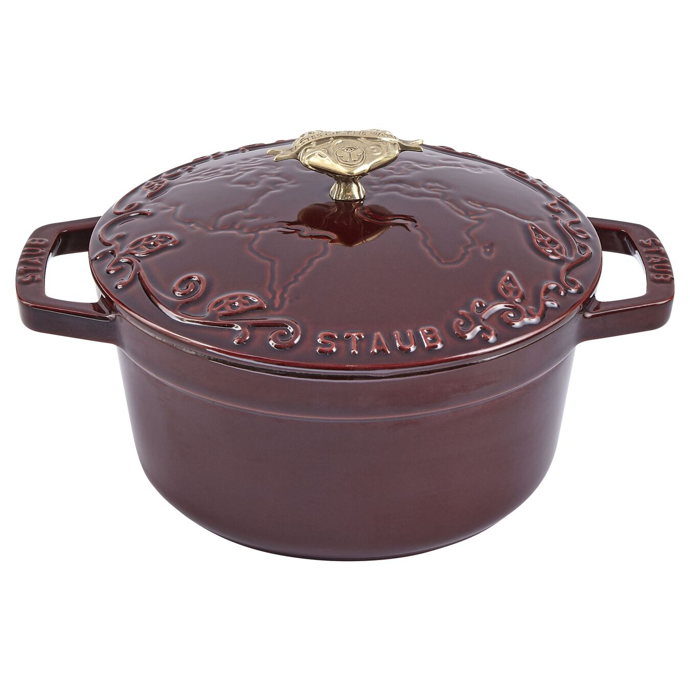 2.25 l Cast iron round Saute pan, Grenadine-Red,,large 1