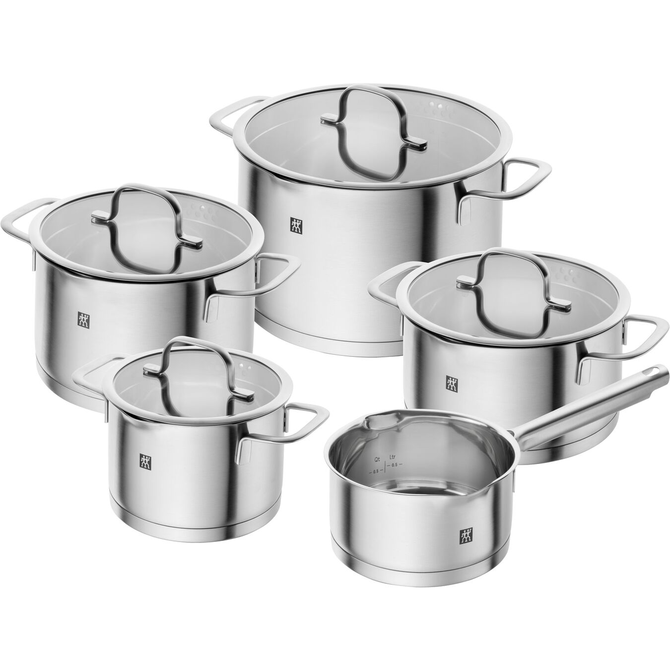 9 Piece Cookware Set , 5 Piece | round | stainless steel,,large 1