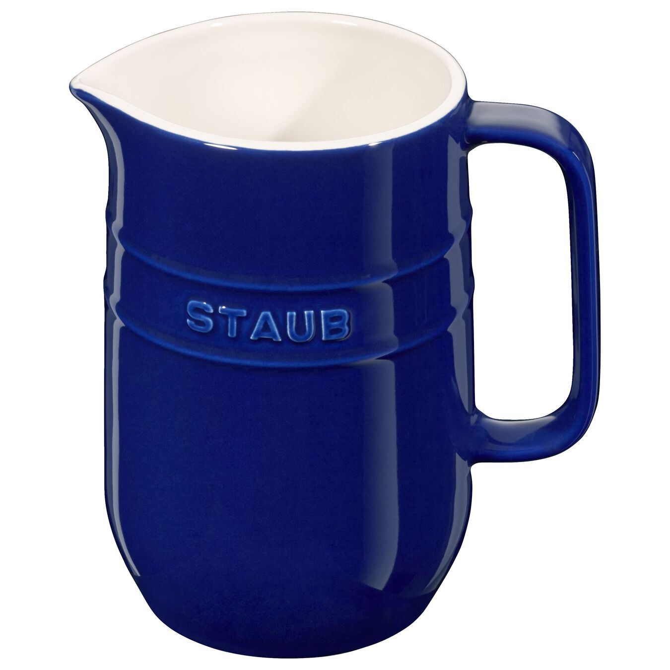 1 l Ceramic Pitcher, Dark-Blue,,large 1