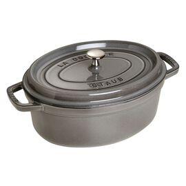 Staub La Cocotte, 4.25 l Cast iron oval Cocotte, Graphite-Grey