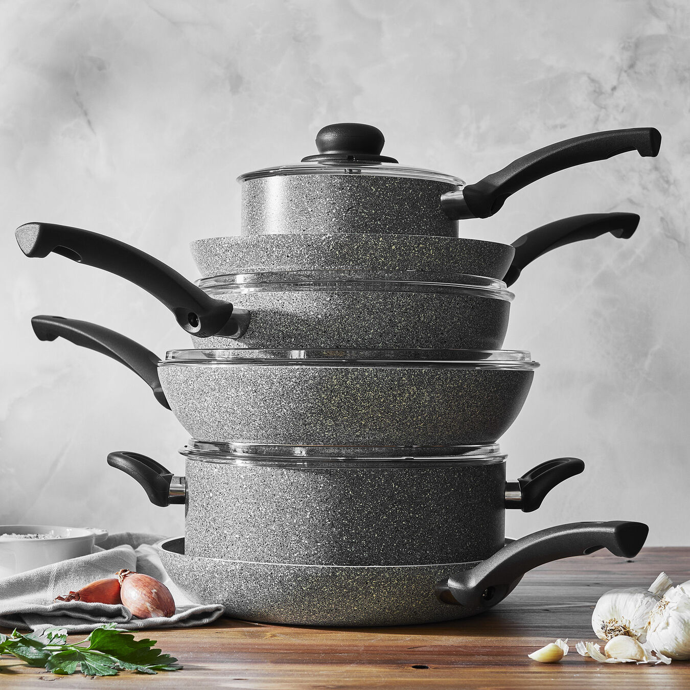 10 Piece Aluminum Cookware set,,large 9