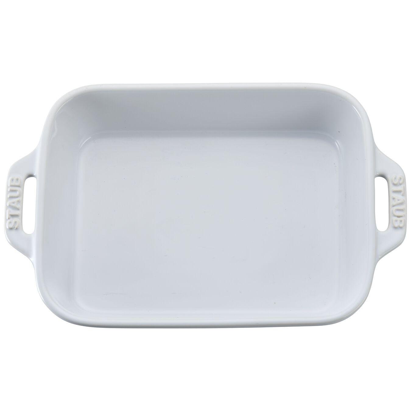 7.5-inch x 6-inch Rectangular Baking Dish - White,,large 2