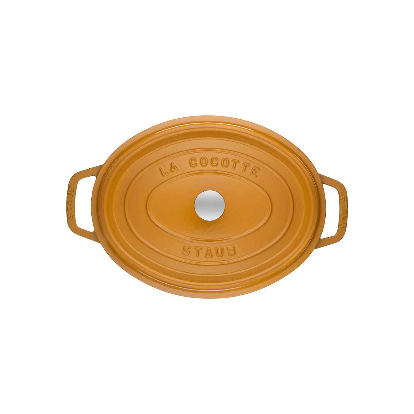 Cocotte 31 cm, Ovale, Moutarde, Fonte,,large 2