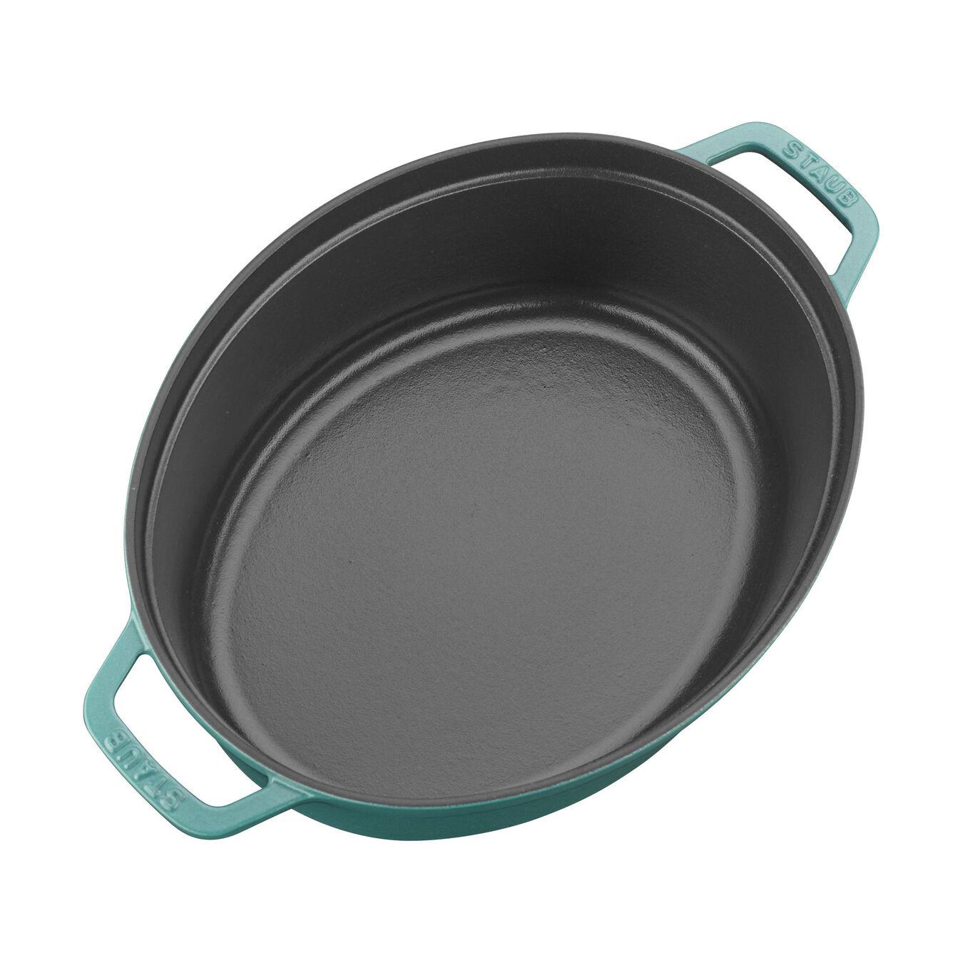 5.5 qt, oval, Coq au Vin Cocotte, turquoise,,large 2