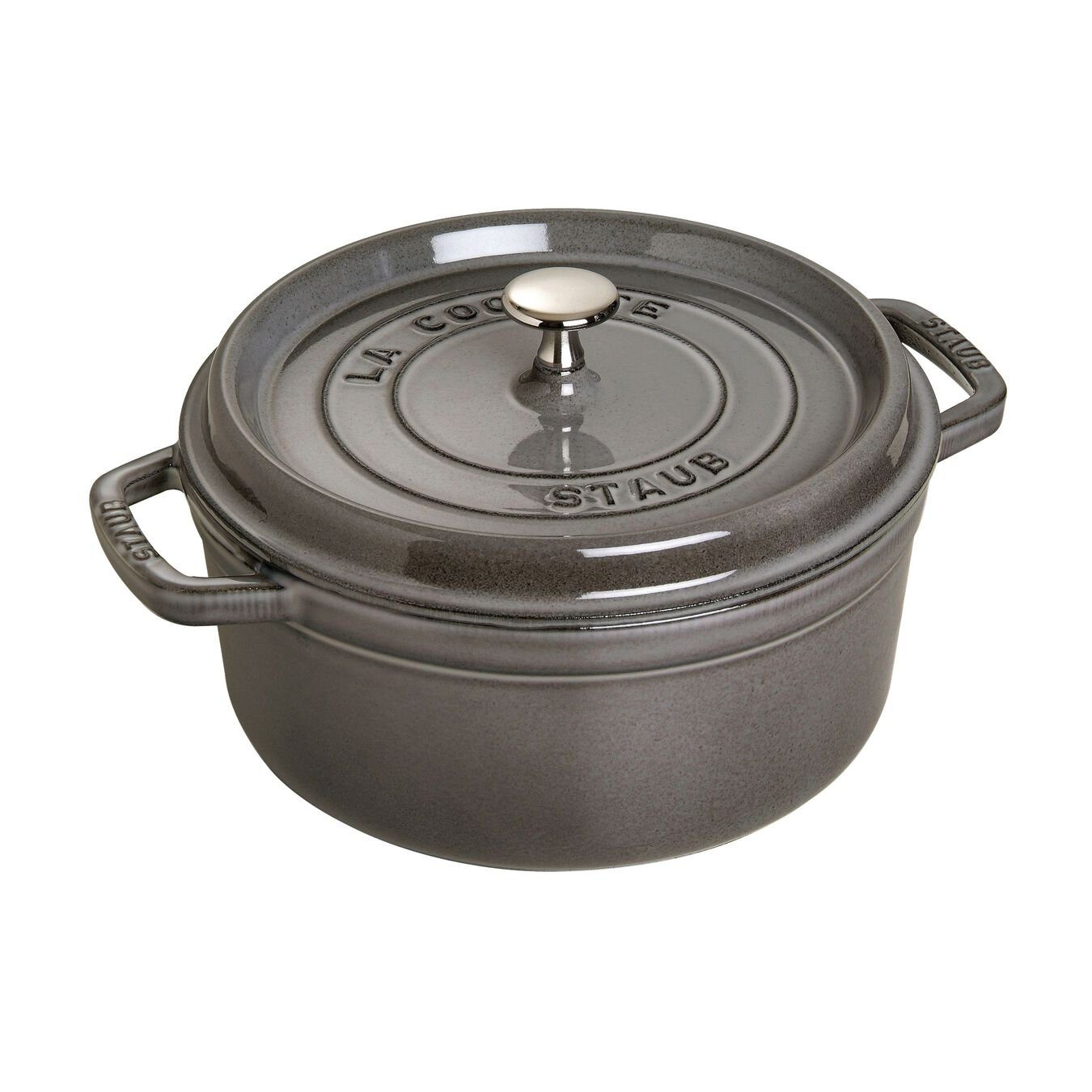 3.75 l Cast iron round Cocotte, graphite-grey - Visual Imperfections,,large 1