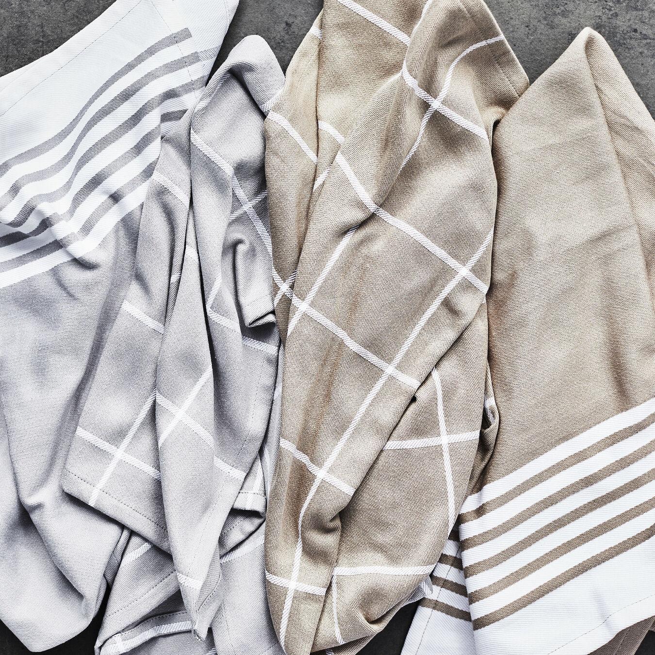 4-pc Kitchen Towel Set - Grey,,large 6