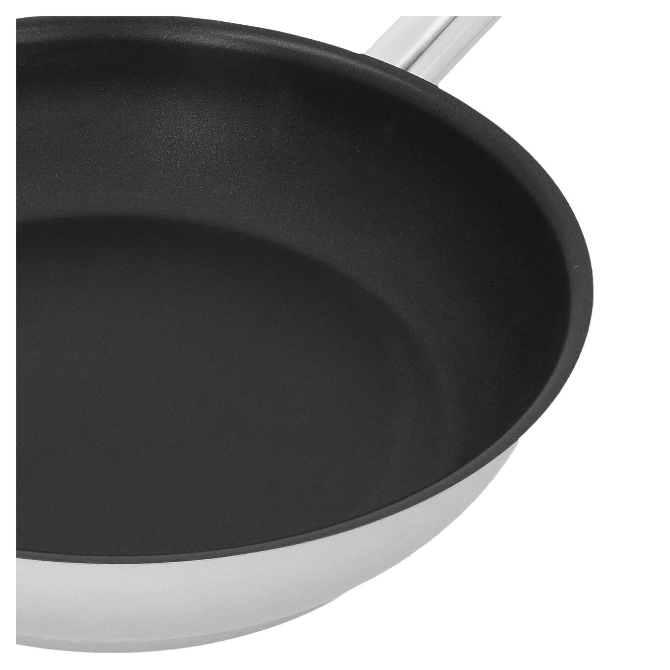 Poêle 28 cm, Inox 18/10, Noir argenté,,large 2