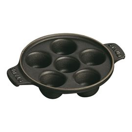 Staub Cast Iron, 5.75-inch Escargot Dish with 6 holes - Matte Black