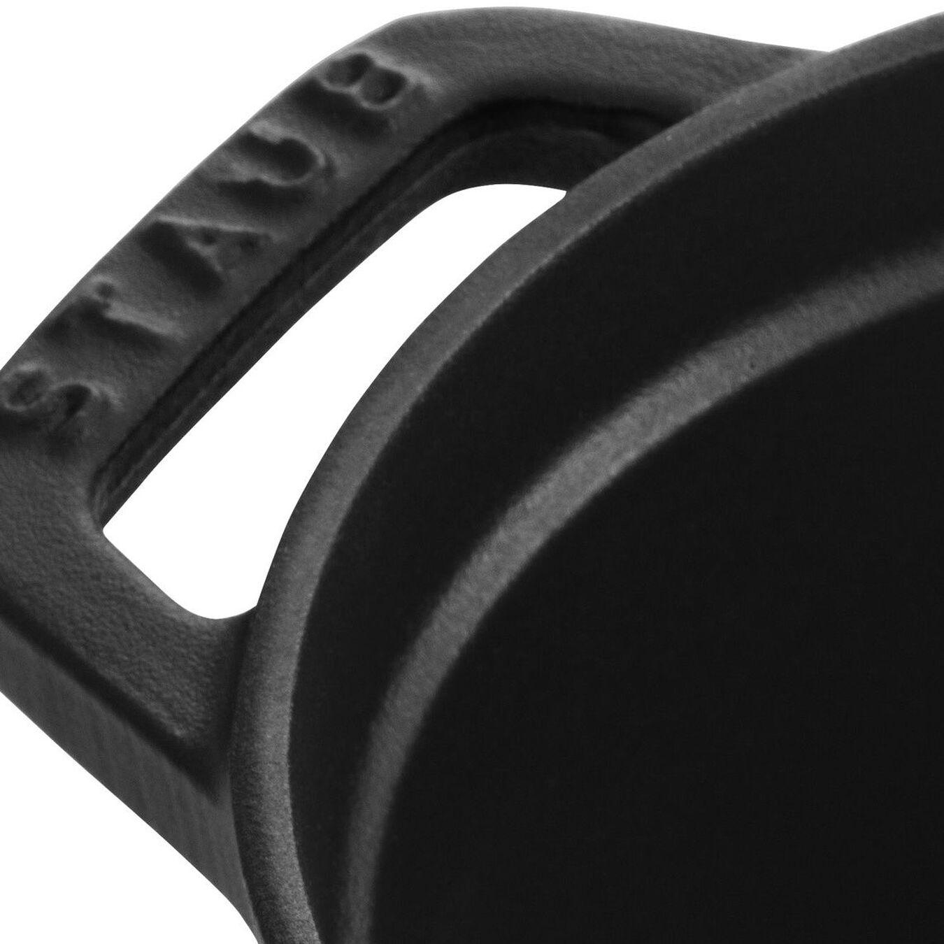 1 l Cast iron oval Faitout, Black,,large 4