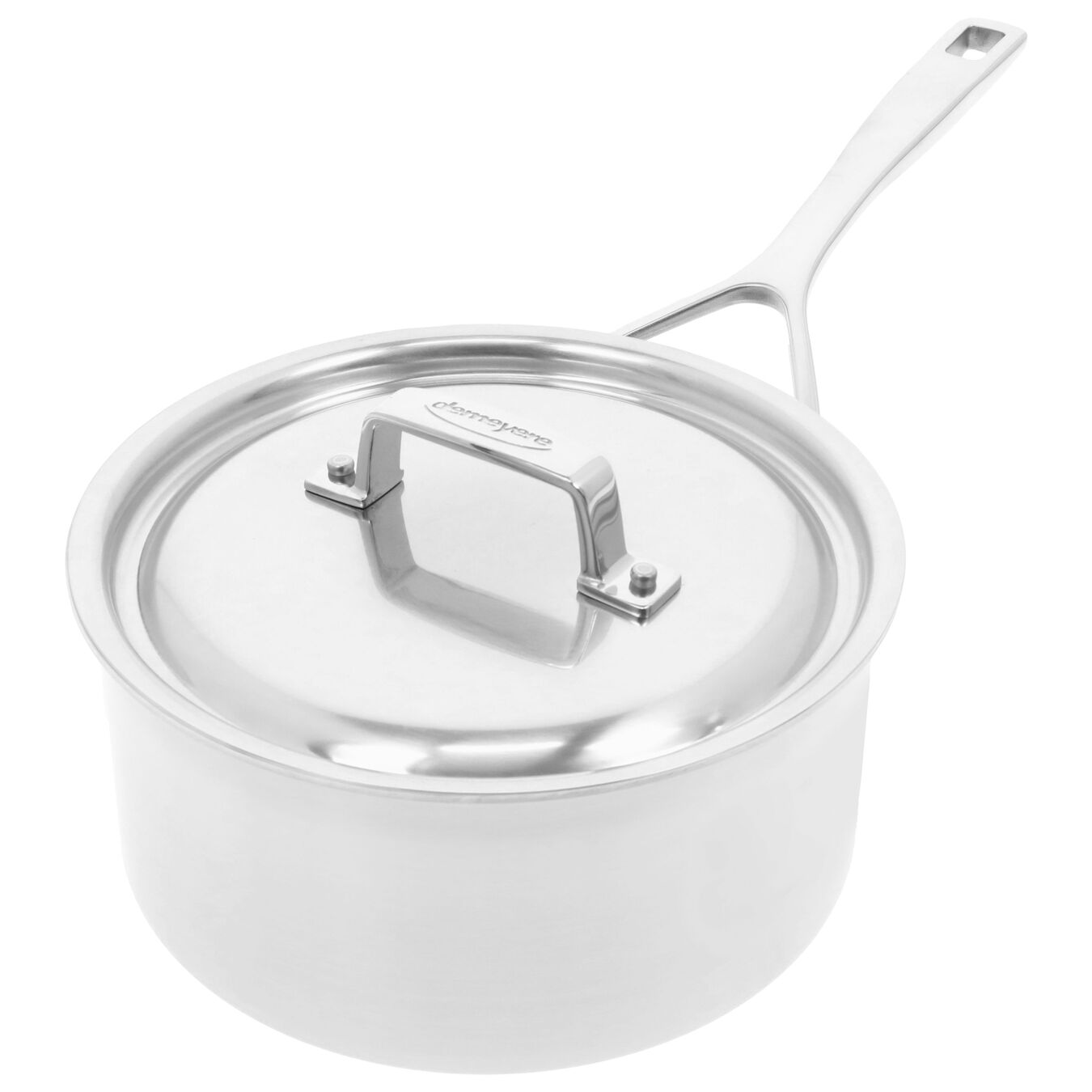 2.8 l round sauce pan with lid 3QT, silver,,large 3