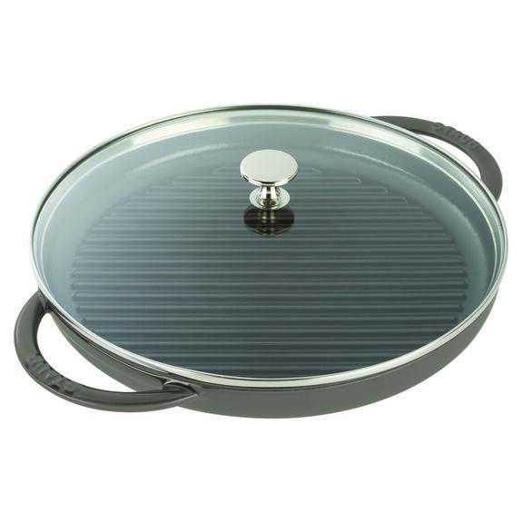 12-inch Round Steam Grill - Graphite Grey,,large 2