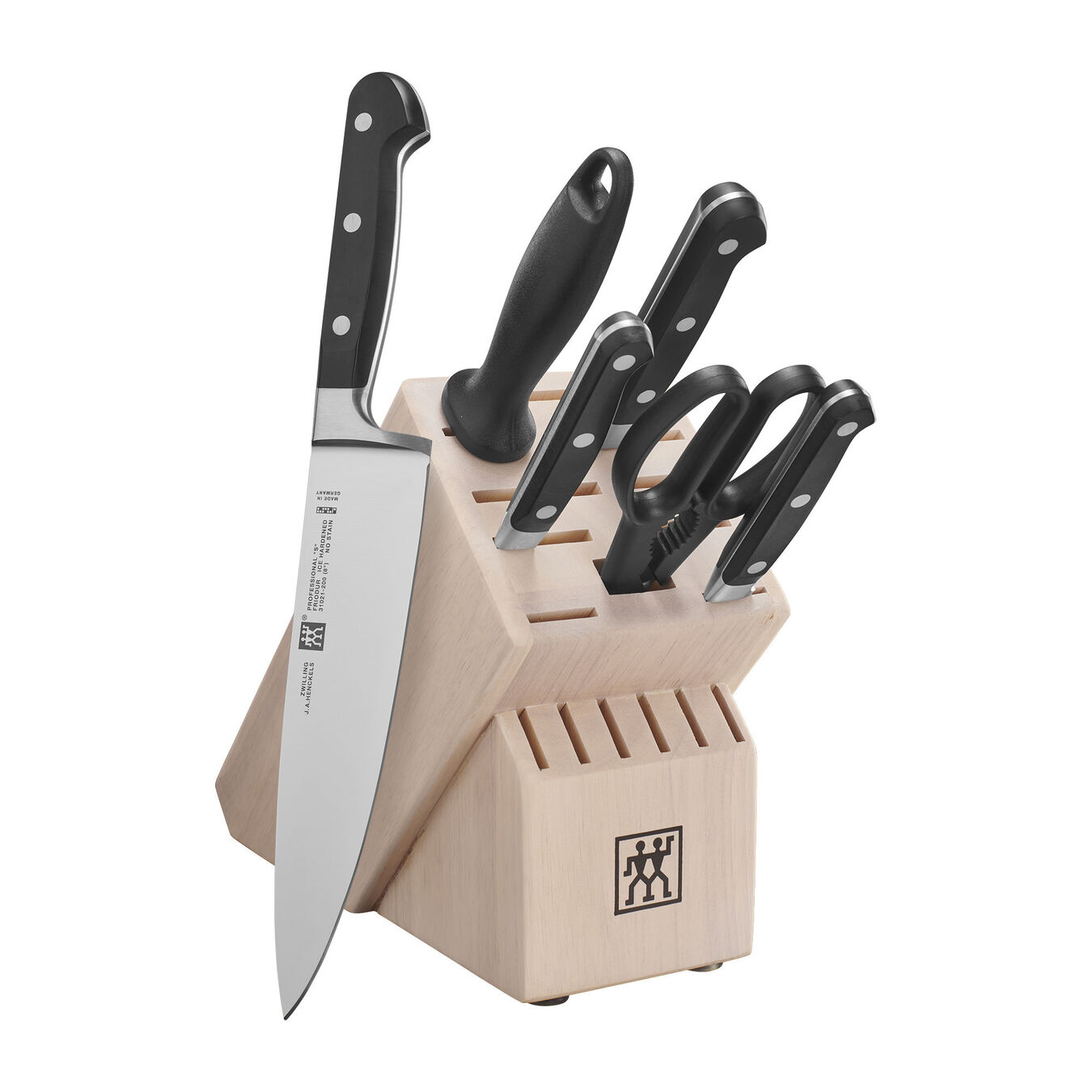 7-pc Knife block set ,,large 1